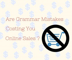 Misspellings and Grammar Mistakes cost online sales